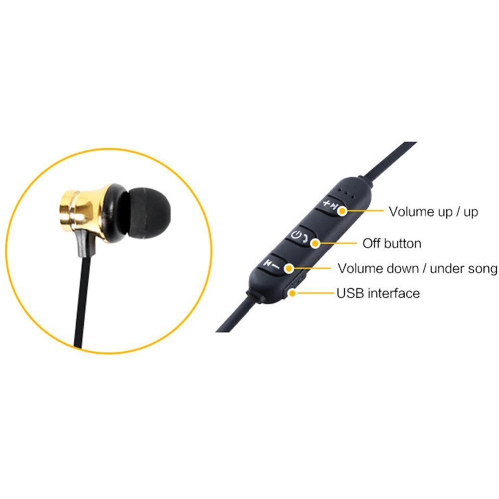 Magnetic Wireless Bluetooth Earphone Stereo Sports Waterproof Earbuds Wireless in ear Headset with Mic For IPhone xiaomi in Bluetooth Earphones Headphones from Consumer Electronics