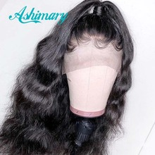 Ashimary Pre Plucked 360 Lace Frontal Wig with Baby Hair Brazilian Body Wave 360 Lace Front Human Hair Wigs for Black Women Remy