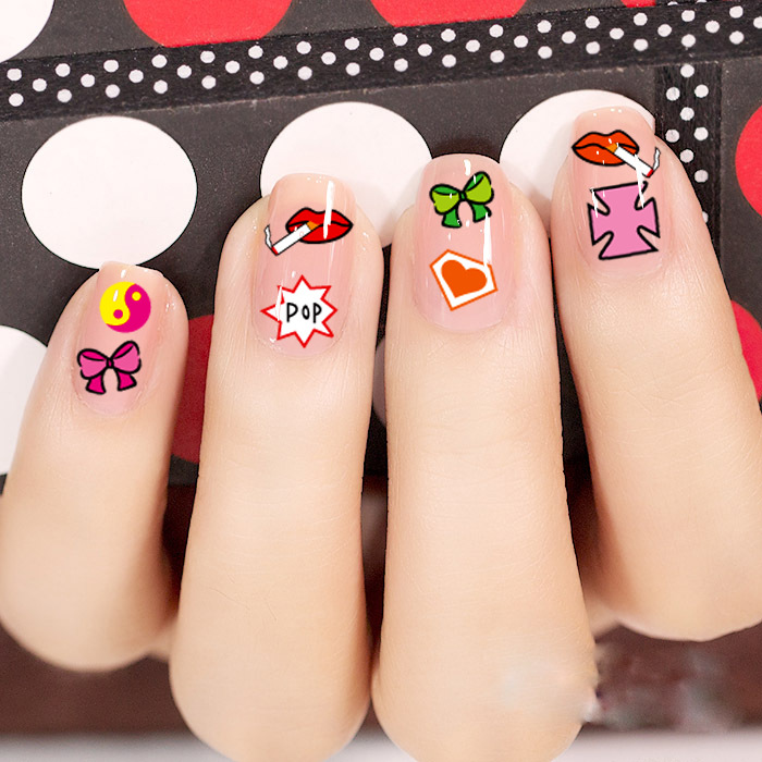 Min.order is $5 New 2015 Nail Art Stickers Decal 3D Colorful Pop ...