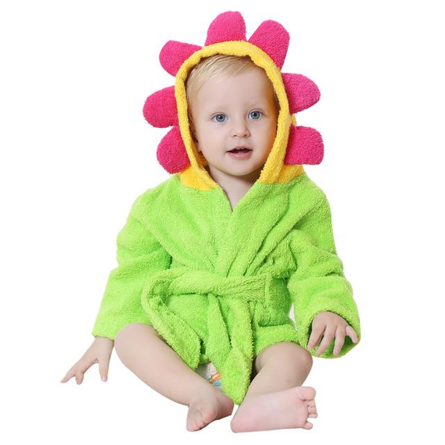 NoEnName_Null Novas Meninas E Meninos das Crianças Roupão de Banho de Algodão Toalha de Banho Do Bebê Bonito Dos Desenhos Animados PF-14