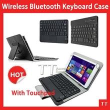 Caja del teclado universal de bluetooth para lenovo thinkpad tablet 8 pc, para lenovo thinkpad 8 caja del teclado de bluetooth + free 2 regalos