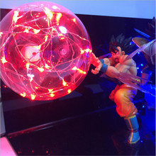Dragon Ball Z Vegeta Son Goku Nightlight Super Saiyan Led Lighting Red Blue Lamp Bulb Anime DBZ Table 110V 220V