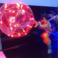 Dragon Ball Z Vegeta Son Goku Nightlight Super Saiyan Led Lighting Red Blue Lamp Bulb Anime Dragon DBZ Led Table Lamp 110V 220V