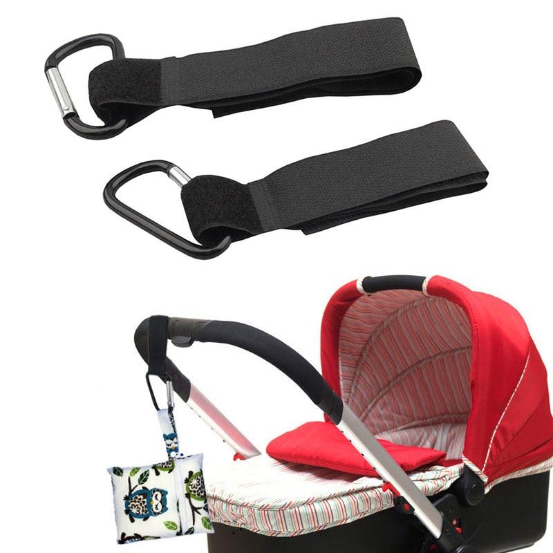 Buggy Clip Pram Pushchair Stroller Side Hook Baby Handle Shopping Bag Pj