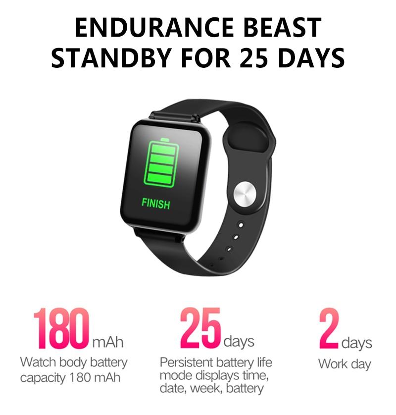 Smart watch B57, heart rate monitor, waterproof Battery