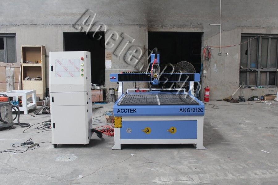Máquina de grabado enrutador cnc de buena calidad AKG1212C área de trabajo 1200*1200mm Transmisión de tornillo de bola