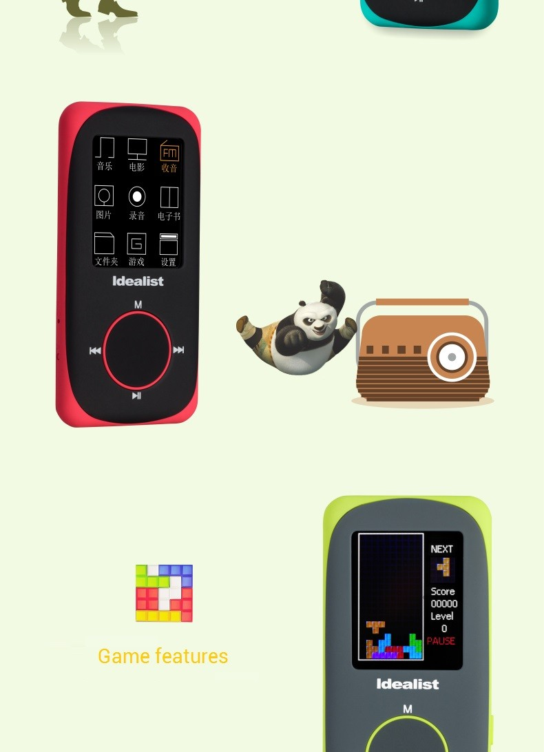 """Idealist Sport HIFI Running MP3 Player 1.8"""" Lossless MP4 Player Support Picture Recording Video TF With Earphone Armband Speaker 14"""