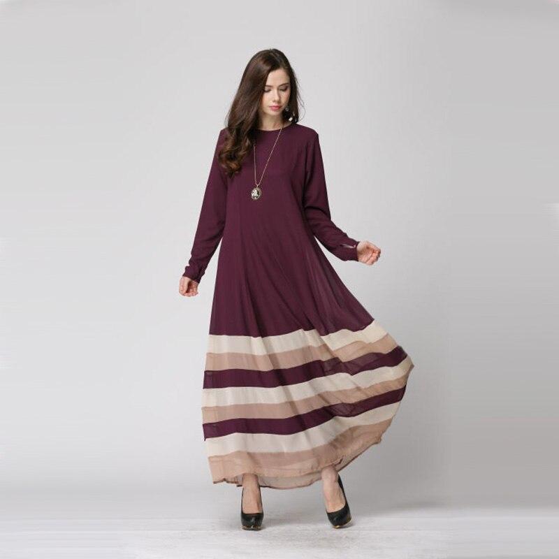 db887e463d630 New Fashion women Long sleeve Muslim Dresses Female Islamic Garment ...