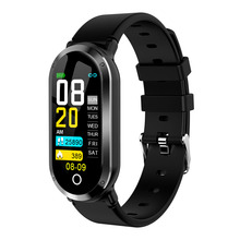 New Smart wristbands watchs color screen touch waterproof heart rate blood pressure monitoring health data analysis and storage machine vibration analysis and health monitoring