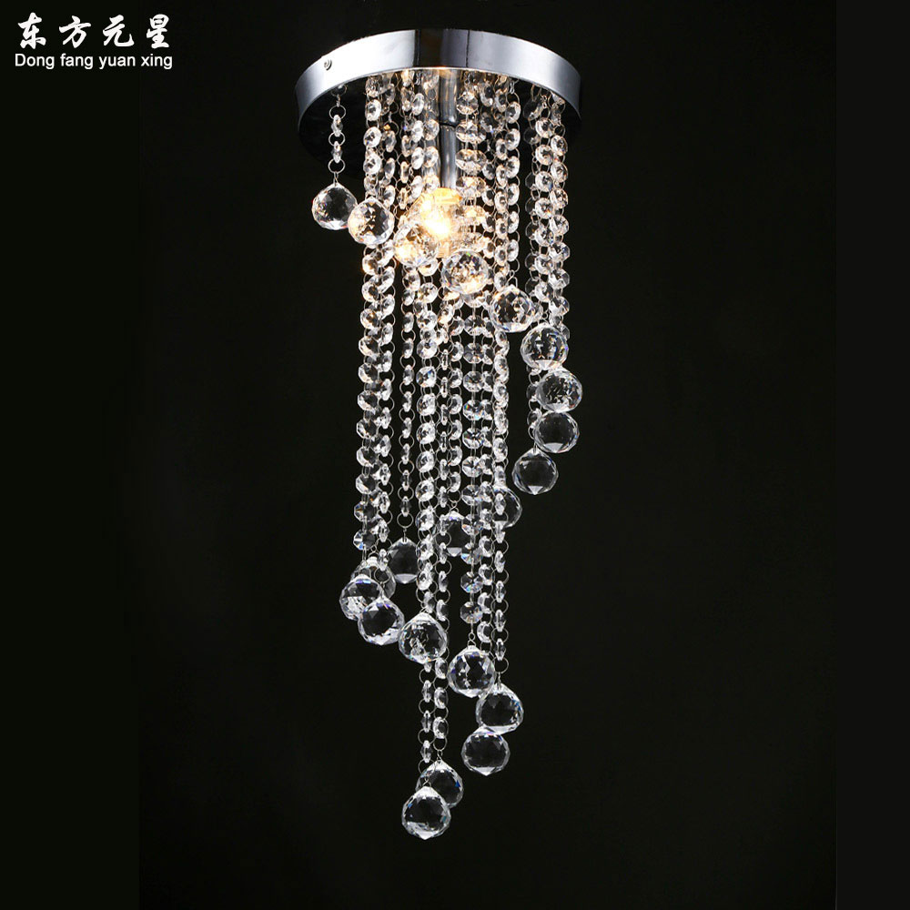 crystal chandelier lamp hallway small light entrance spiral stairs lighting decoration