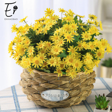 Erxiaobao Autumn Decoration Fall Decor Artificial Flowers Daisy Fake Flower Cute Bellis Perennis Marguerite Small Chrysanthemum