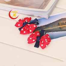 1pcs Newly Design Fashion Grosgrain Children Headdress Girls Cute Hair Clips Headwear Big Bow Dot Hairpins Baby Hair Accessories