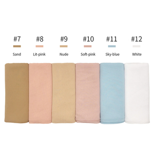 Image 3 - High quality plain crepe chiffon hijab scarf gorgeous solid muslim scarfs natural pleated scarves hot sale maxi hijabs