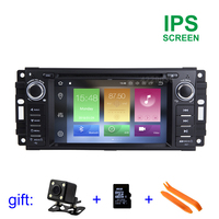 4G RAM Android 8.0 Car DVD Multimedia Player Radio GPS for JEEP Wrangler Compass Patriot Grand Cherokee Commander