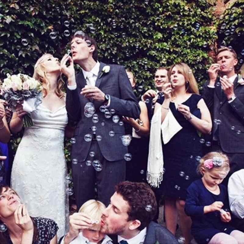สบู่เหลวเปล่าขวดหลอดเด็กกลางแจ้งหลอดเป่าสนุกของเล่นวันเกิดงานแต่งงาน Bubbles Maker เด็กอาบน้ำของเล่น