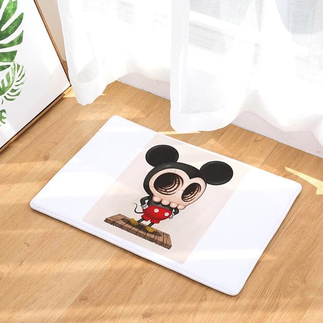 HomeMiYN Bath Mat Cartoon Mouse Skull Flannel Door Mat Anti Slip ...