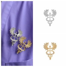 Brooch-Accessories Jewelry Caduceus Medical Nurse-Doctor Pins School-Gifts Female