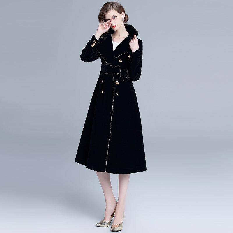 ARiby femmes pull robe manteau manteau femmes moderne dame Streetwear Cape manteau élégant à manches longues solide ceintures a-ligne mi-mollet manteau