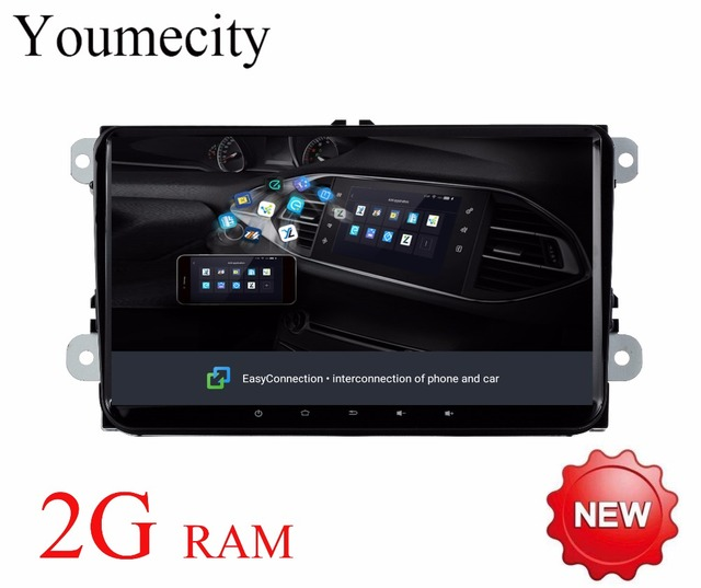 Youmecity Octa Core Android 8.1 Car DVD Player Radio Gps Stereo for VW Volkswagen GOLF 5 6 POLO PASSAT JETTA TIGUAN Touran 2 din