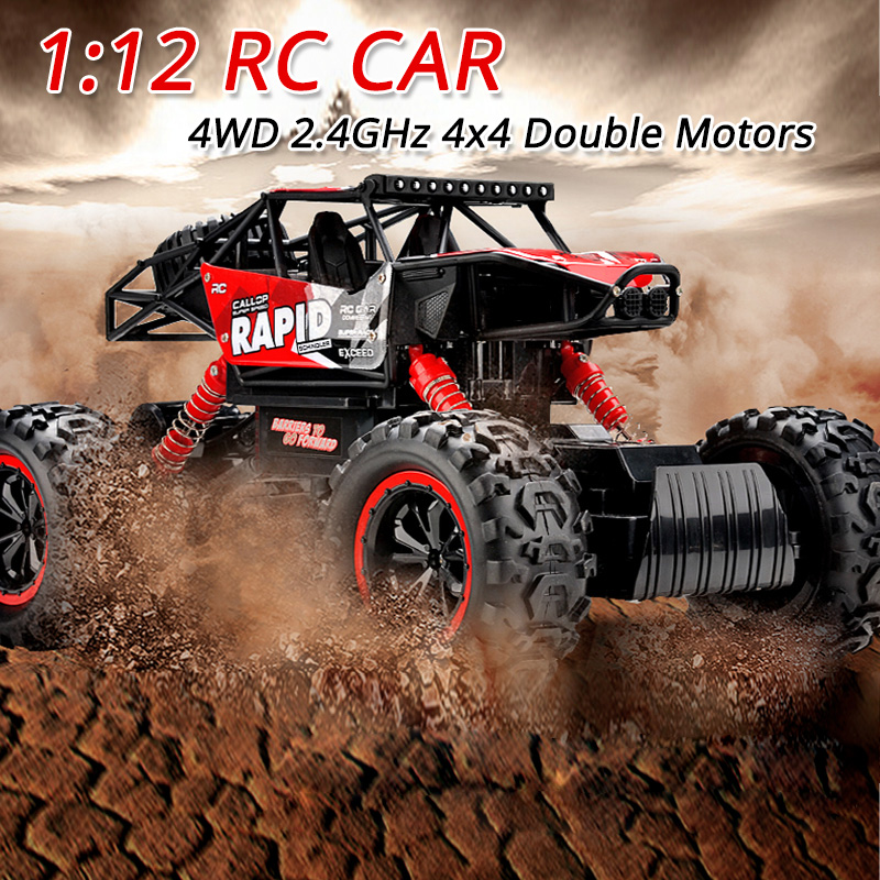 High Speed RC Car 4WD 4x4 Double Motors Radio-Controlled Cars Toys Machine on the Remote Control Car Model Off-Road Vehicle Toy microgear radio controlled rc grasshopper flying in the air