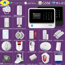 Golden Security G90B Plus SIM GSM Home Burglar Security APP Remote Control WIFI GSM Alarm System Wireless EN RU ES FR TUR Voice yobang security english russian spansih voice prompt sim home security wifi gsm alarm system app remote control
