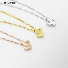 WFSVER New Fashion The Cactus Pendant Necklace Simple Style Plant Stainless Steel for Women Girl Kid Jewelry