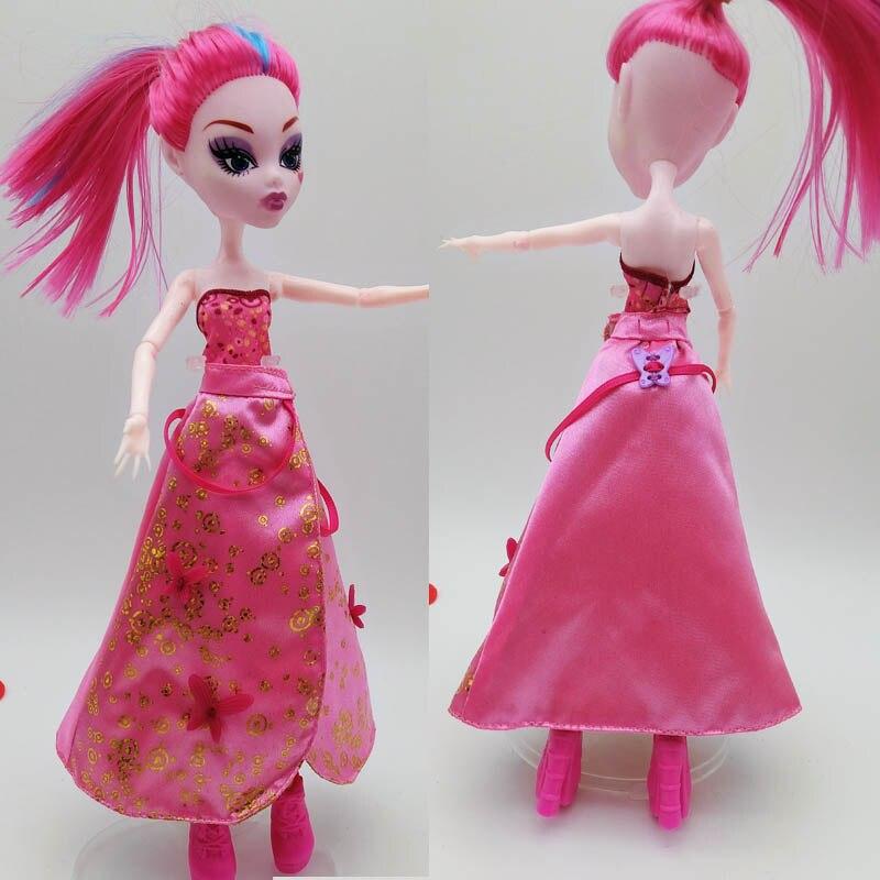 Moda de lujo ropa para Monster High Muñecas vestido de verano ...