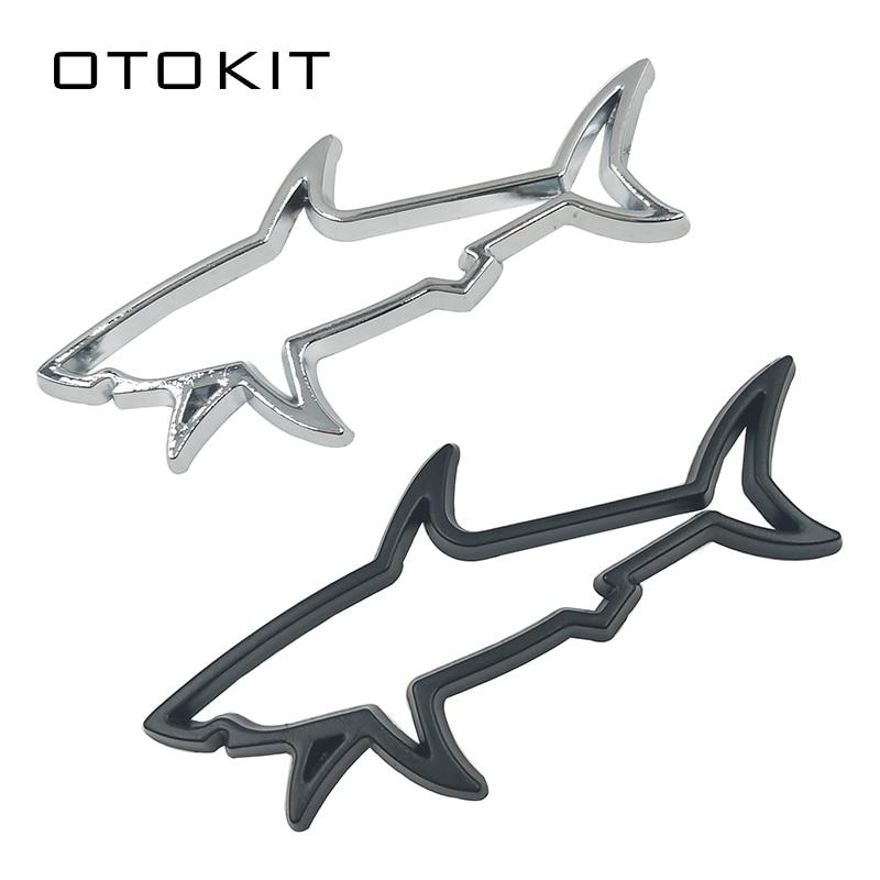 Металлическая 3d-наклейка для стайлинга автомобиля, наклейка в виде рыбы, акулы, наклейки для автомобилей, мотоциклов, компьютеров, топливны...