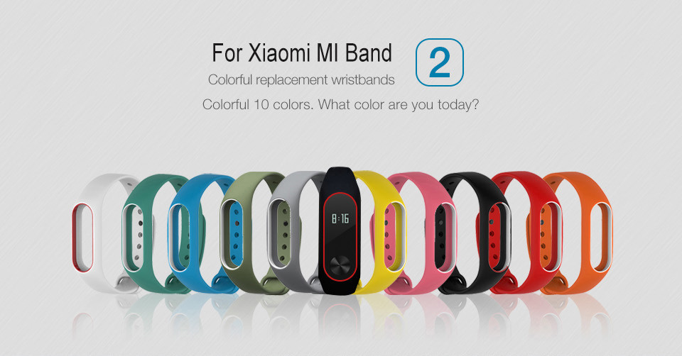Teyo Silicone Replacement Wrist Strap For Xiaomi Mi Band 2 Smart Band Accessories Miband 2 for Xiaomi Mi Band 2 Smartband Sraps 3