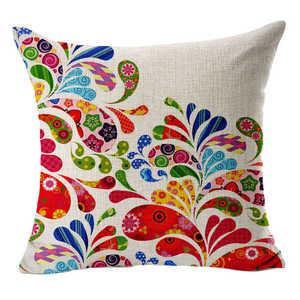 Image 3 - Aantrekkelijke Bloemen Gedrukt Patroon Kussenslopen Cover Super Stof Thuis Bed Decoratieve Throw Beddengoed Kussensloop