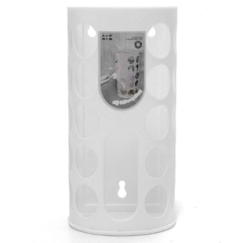 Домашняя корзина для хранения, пластиковая сумка-переноска, хозяйственная сумка для хранения, сумка для хранения, Диспенсер, может быть соединен - Цвет: white