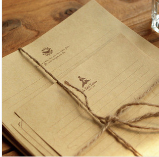 10pcs creative kraft classic vintage letter writing set brown letter head writingchina mainland