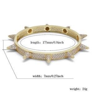 Image 5 - TOPGRILLZ Bracelets à rivets, à épis, en zircone cubique, bijoux Hip Hop