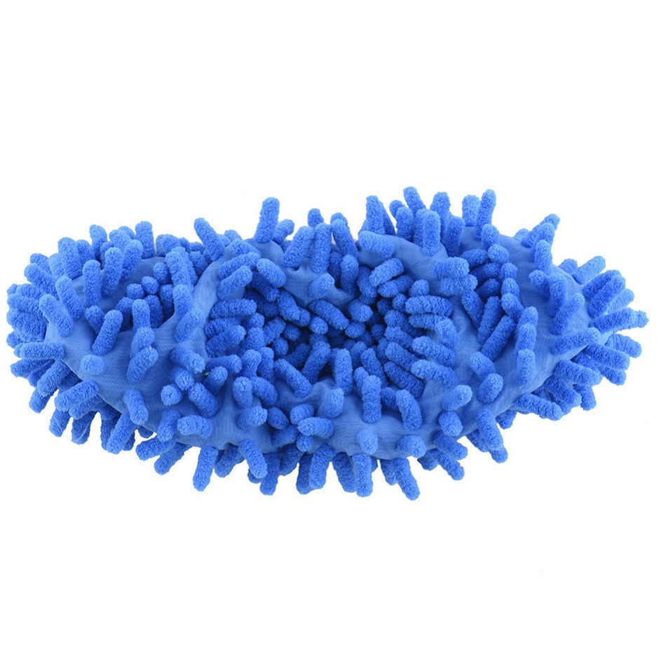 1 piezas de chenilla Micro fibra de cubiertas de zapatos limpio zapatillas perezoso Drag Shoe RP tapas hogar herramientas de 5 colores