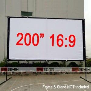 Наружный высококачественный складной фронтальный проекционный экран 200 дюйма 16:9, матовый белый, для мультимедийных проекторов, кино и т. Д.
