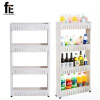 Multipurpose Shelf With Removable Wheels Crack Rack Bathroom Storage Storage Rack Shelf Multi Layer Refrigerator Side