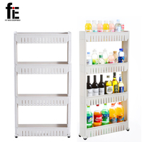 Multipurpose Shelf With Removable Wheels Crack Rack Bathroom Storage Storage Rack Shelf Multi Layer Refrigerator Side