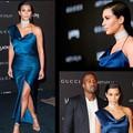 Kim Kardashian Sirena Sexy Altura Del Tobillo Azul Real Vestido de Noche Vestidos de La Celebridad 2017 De Ocasión Especial envios Red Carpet