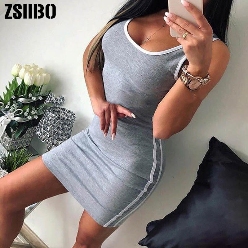 HTB173gITCzqK1RjSZFpq6ykSXXa1 ZSIIBO Sexy Club Clothes Black Gary Sleeveless Bodycon Mini Paty Dress Summer Plus Size Female Dresses Vestidos drop shipping
