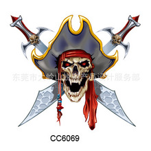 Mini Body Art Waterproof Temporary Tattoos For Man And Women And Men Skull Design Flash Tattoo Sticker s CC6069
