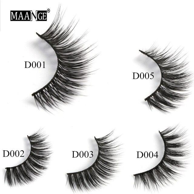 1 Pairs Mink Eyelashes Natural Long 3D Mink Lashes Hand Made False Eyelashes Full Strip Lashes Makeup False Eyelash Beauty Tool 5