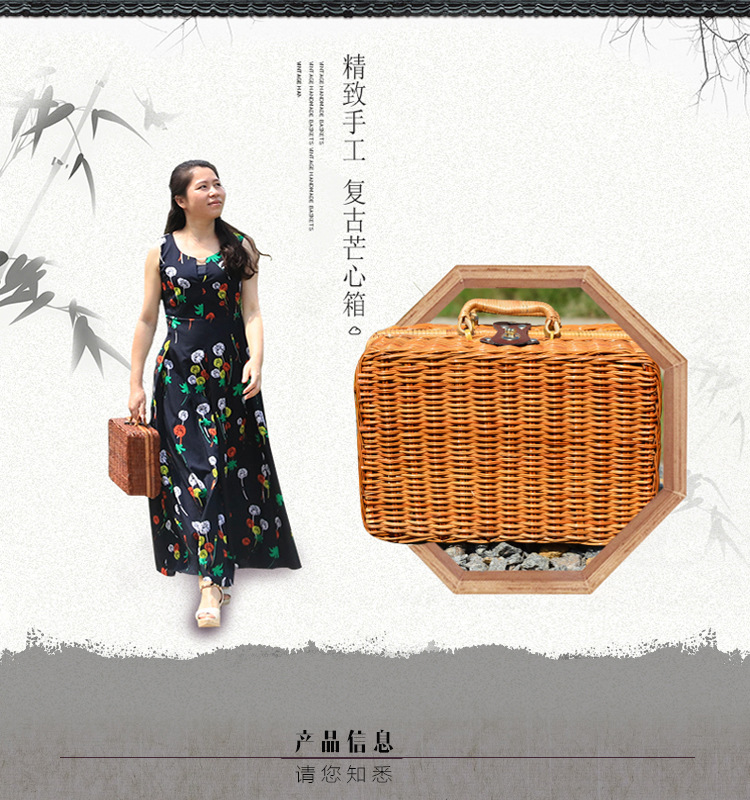 18 Summer Beach Bamboo Bag Straw Women Handbag Handmade Woven Bag Luxury Designer Tote Travel Clutch Lunch Bags snx008 30 OFF 5