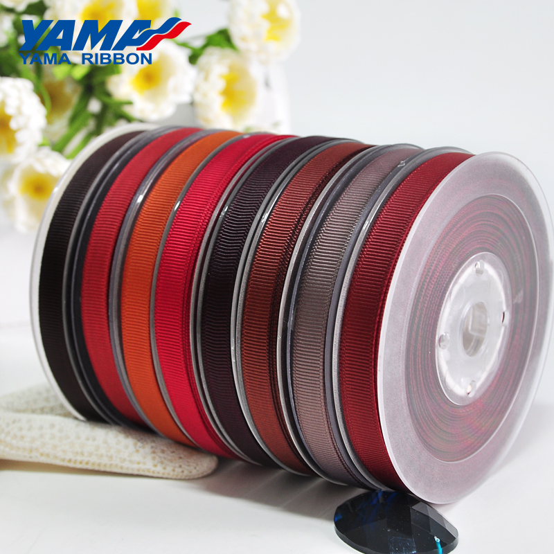 YAMA 3 16 quot inch 5mm 250 yards lot Dark Brown Series Wholesale Grosgrain Ribbon for Diy Dress Accessory House Wedding Decoration in Ribbons from Home amp Garden