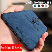 Sprawa dla Huawei Mate 20 Lite przypadku tkaniny TPU silikonowy bumper tylna pokrywa dla Huawei Mate 20 pro x 20 pro 20x 20lite Mate20 SNE-LX1 tanie tanio Streszczenie vintage Wzorzyste Egzotyczne Biznes Odporna na brud Aneks Skrzynki SGP Hybrid Deer frabic texture phone case