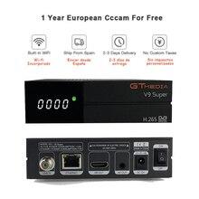 цена на GTMedia V9 Super Satellite Receiver Bultin WiFi cccam cline for 1 year europe Full HD DVB-S2/S Freesat V9 Super Receptor V8 NOVA