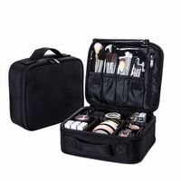 Women's Travel Fashion Profession Cosmetic Bag Cosmetic Zipper Storage Make Up Pouch Toiletry Beauty Wash Kit Bag