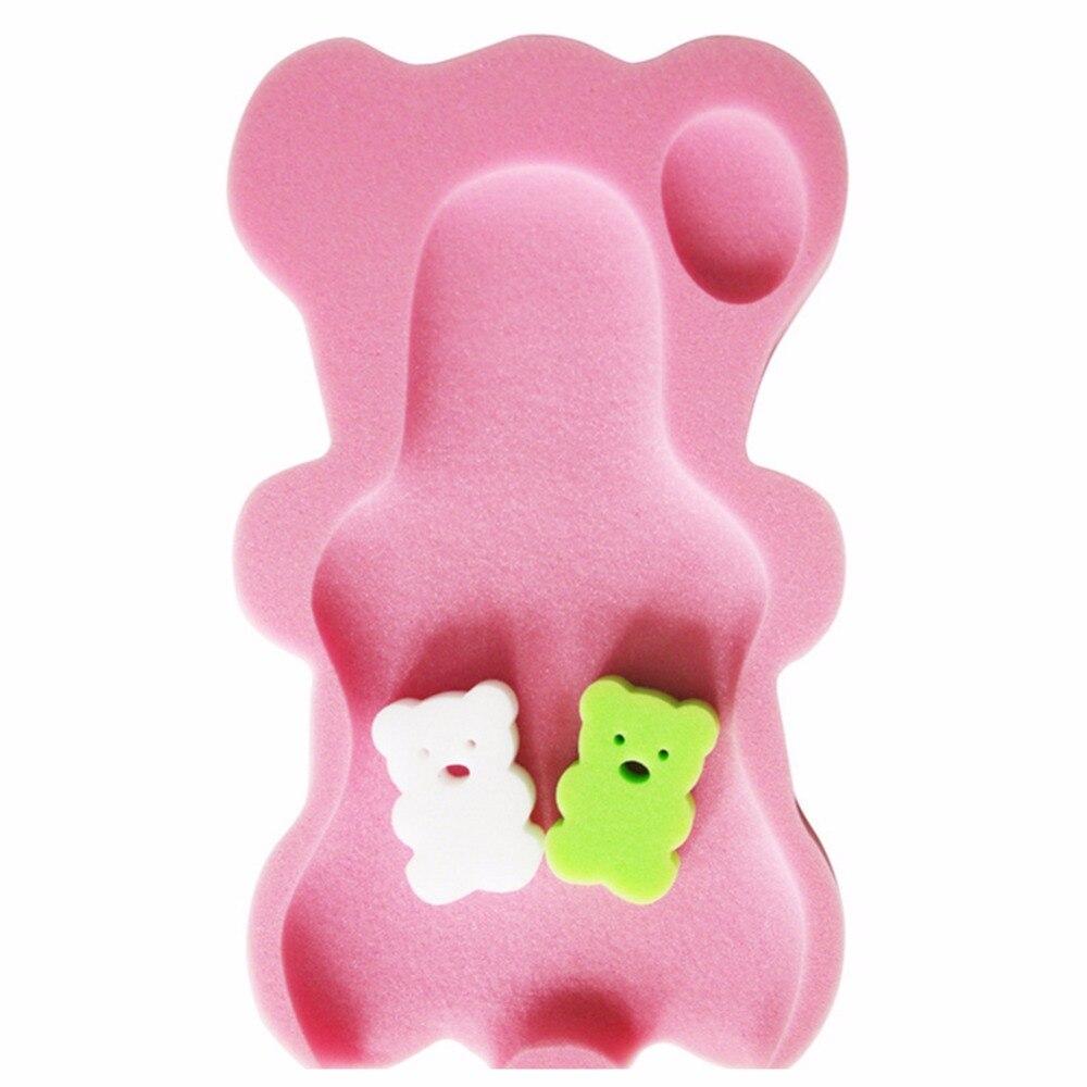 Baby Infant Soft Bath Sponge Seat Cute Anti Slip Foam pad Mat Body ...