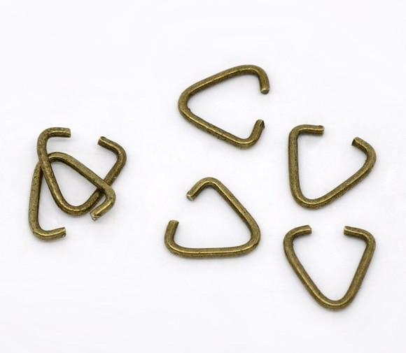 DoreenBeads зажимы и застежки для подвесок из сплава античной бронзы 10 мм (3/8
