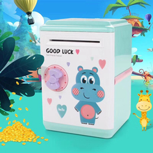 Cartoon Piggy Bank Portable Money Box Cash  Rolling Money Box Coin Piggy Bank Safe Passwords Lock Boxes Deposit Coins box