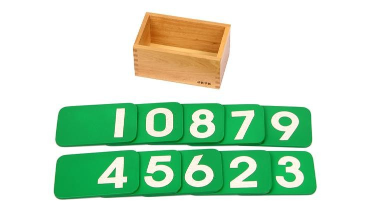 Baby Toys Montessori Sandpaper Numbers Box Sensory Early Learning Toys Educational Toys